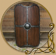LARP Titan Shield - Wood
